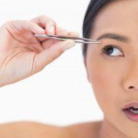 pinças transplante de sobrancelhas